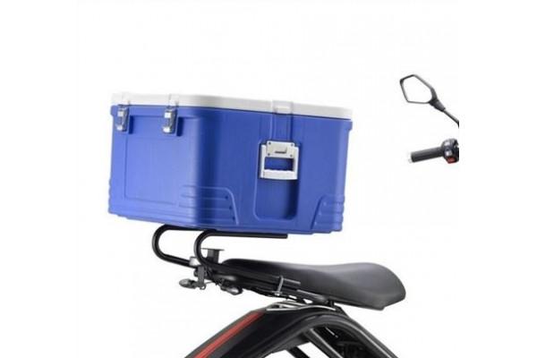 """Rear """"PIZZA"""" box X-scooters XR09/XR10 - blue"""