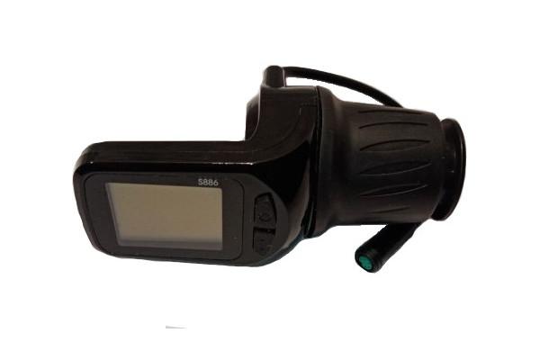 Ovládání plynu s LCD X-scooters XR03 EEC 48V